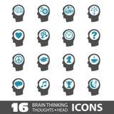 Iconos principales de pensamiento Foto de archivo libre de regalías