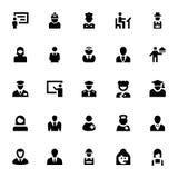 Iconos profesionales 1 del vector Fotografía de archivo