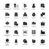Iconos prolíficos de la entrega de la logística Foto de archivo