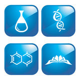 Iconos químicos Fotos de archivo libres de regalías