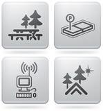 Iconos que acampan Foto de archivo libre de regalías