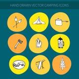 Iconos que acampan Fotografía de archivo