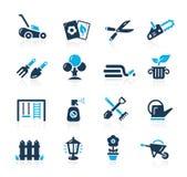 Iconos que cultivan un huerto -- Azure Serie ilustración del vector