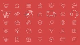 Iconos que hacen compras 01 stock de ilustración