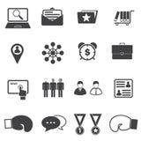 Iconos que luchan del negocio Foto de archivo libre de regalías
