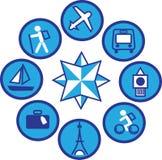 Iconos que viajan - 1 Imagenes de archivo