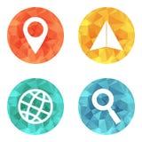 Iconos que viajan de la ubicación Imagenes de archivo