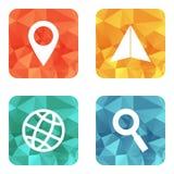 Iconos que viajan de la ubicación Imagen de archivo