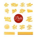 Iconos realistas de las pastas tradicionales italianas fijados Fotos de archivo libres de regalías