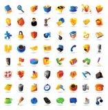 Iconos realistas del vector fijados Imagen de archivo