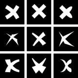 Iconos rechazados blanco del vector fijados Imágenes de archivo libres de regalías
