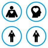 Iconos redondeados amante masculino del vector Fotos de archivo