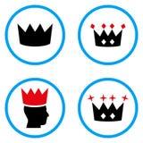 Iconos redondeados corona del vector Imagen de archivo