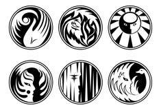 Iconos redondeados de la fantasía ilustración del vector