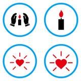Iconos redondeados del vector de la fuente de luz Fotografía de archivo libre de regalías