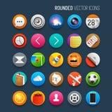 Iconos redondeados del vector fijados Imágenes de archivo libres de regalías