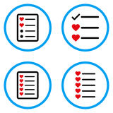 Iconos redondeados lista del vector de los favoritos Fotografía de archivo libre de regalías
