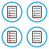 Iconos redondeados página del vector de los artículos de los favoritos Imagen de archivo libre de regalías