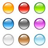 Iconos redondos brillantes del botón libre illustration
