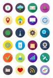 Iconos redondos de Internet del color fijados Imagen de archivo libre de regalías