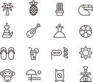 Iconos relacionados con el Brasil stock de ilustración