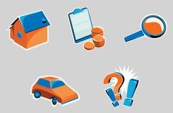Iconos relacionados con el Internet Fotos de archivo