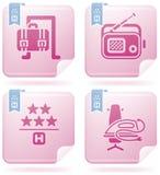 Iconos relacionados del hotel Fotografía de archivo libre de regalías