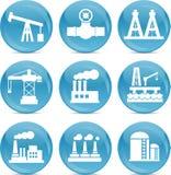 Iconos relacionados del petróleo y gas Imagen de archivo libre de regalías