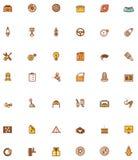 Iconos relacionados del servicio del coche del vector ilustración del vector