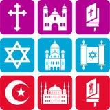 Iconos religiosos Imagenes de archivo