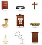 Iconos religiosos cristianos Imagen de archivo libre de regalías