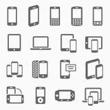 Iconos responsivos del diseño foto de archivo libre de regalías