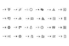Iconos responsivos financieros 2 del vector Fotos de archivo