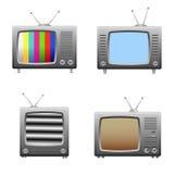 Iconos retros de la televisión Fotos de archivo libres de regalías