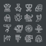 Iconos robóticos de la cirugía Foto de archivo