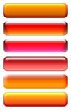 Iconos rojos Fotografía de archivo libre de regalías