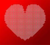 Iconos rojos de los pixeles del corazón Logotipo simple del vector Fotos de archivo libres de regalías