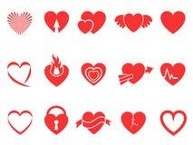 Iconos rojos del corazón libre illustration
