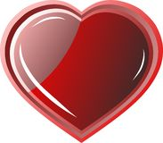 Iconos rojos del corazón Logotipo simple del vector Imagen de archivo