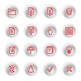Iconos rojos del diario Stock de ilustración