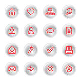 Iconos rojos del Web Fotografía de archivo libre de regalías