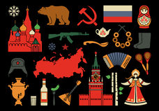 Iconos rusos Imagenes de archivo