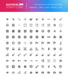 Iconos sólidos del diseño material fijados Imagen de archivo libre de regalías