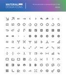 Iconos sólidos del diseño material fijados Fotos de archivo