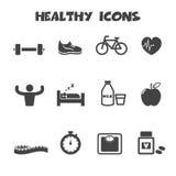 Iconos sanos Fotografía de archivo libre de regalías