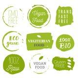 Iconos sanos de la comida, etiquetas Etiquetas orgánicas Elemen del producto natural libre illustration