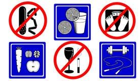 Iconos sanos 2 de la forma de vida Foto de archivo libre de regalías