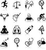 Iconos sanos de la forma de vida ilustración del vector