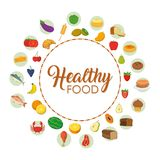 Iconos sanos del alimento Imagen de archivo