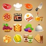 Iconos Set1 de los accesorios de la comida y de la cocina 1 Imagen de archivo libre de regalías